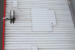 Bild2: Überblick über das Dach des Nebengebäudes