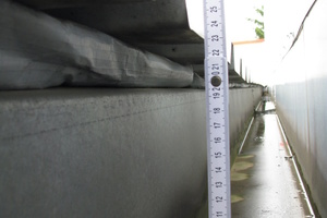 Bild10: Traufseitiger Abschluss der Dachfläche der Halle