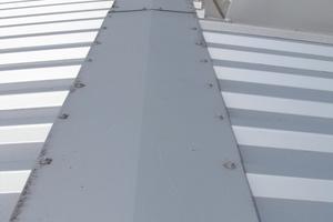 Bild8: Firstkappe bei der Dachfläche der Halle