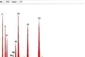 Bild7: Spektrum einer Probe der Verunreinigungen und Rückstände aus einem Fensterfalz