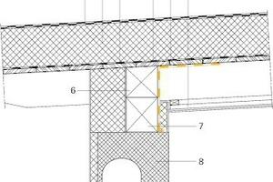 Bild 4: Skizze der planmäßigen Konstruktion im Traufbereich