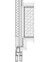 Fassadenschnitt, M 1:17,5