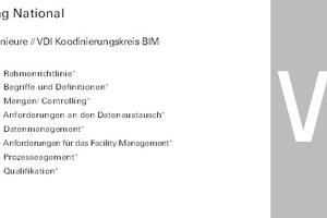 Übersicht der VDI Arbeitsgruppen zum Thema BIM