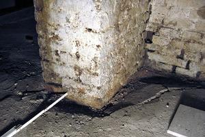 Bild3: Absenkung des Estrichs bei einer tragenden Wand im Kellergeschoss