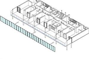 Isometrie 5: Aufbau der Verglasung Wintergärten
