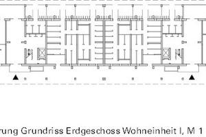 Erweiterung: Grundriss Erdgeschoss Block G, M 1:750
