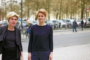 Britta Peter und Marianne Wagner im Stadtraum Münster