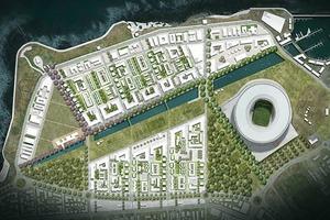 Der städtebauliche Entwurf rund um das Kapstadter Stadion bezieht die Stadtgeschichte ein