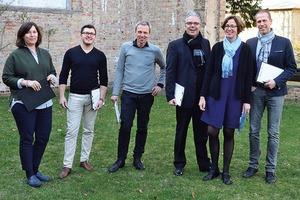 Die Jury des BDB-Studentenförderpreises 2017 (v.l.): Belinda Rukschcio, René Großner, Prof. Markus Hermann, Christoph Schild, Dr. Sabine Kühnast und Steffen Güll
