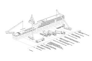 Die vertikale Verdichtung in Modulbauweise ermöglicht einen enormen Vorfertigungsgrad sowie eine minimale Bauzeit