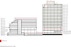 Schnitt Bestand Neuplanung, M 1:1000