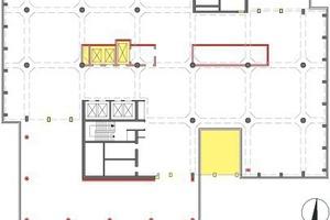 Grundriss Hochhaus Regelgeschoss, M 1:750