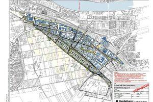 Das Quartier Bahnstadt Heidelberg erstreckt sich auf einer Fläche von 115 Hektar, die ehemals vom Güterbahnhof und dem Militär genutzt wurden<br />