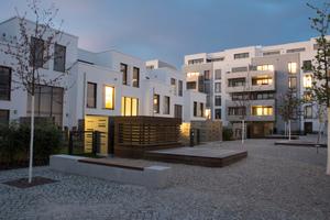 Innenhof Wohnquartier in der Heidelberger Bahnstadt