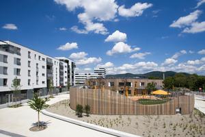 Schwetzinger Terrassen Wohnbebauung GGH Kita und SkyLabs
