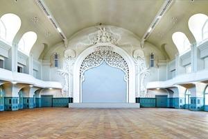 Der Große Saal wurde nach Abschluss der Rekonstruktion und mit moderner Technik ausgestattet
