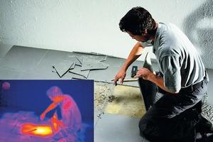 Auch Leckagen im Estrich kann man auf die Spur kommen und Reparaturbereiche eingrenzen