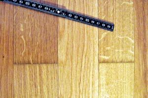Bild1: Feuchteschäden am Parkett