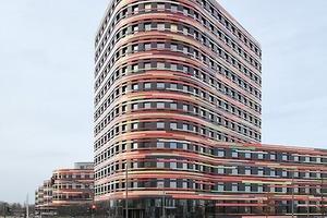 BSU Hamburg-Wilhelmsburg, Amtssitz des Oberbaudirektors (12. OG) mit Ausblick auf das, was u.a. von hier aus angeschoben wurde