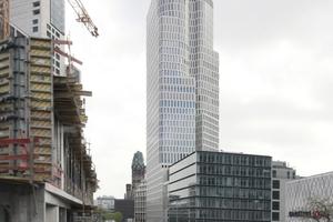 Das Upper West, Berlin, ist 119 m hoch, so wie schon das Waldorf Astoria (links)