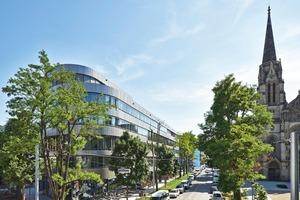 Auf 14100 m² Fläche bietet es Platz für Büros, Handel und Gastronomie sowie 15 Wohneinheiten und eine zweigeschossige Tiefgarage