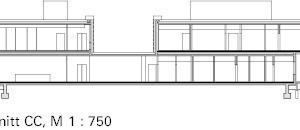 Schnitt CC, M 1:750