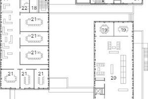Obergeschoss, M 1:750