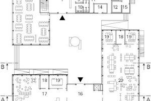 Erdgeschoss, M 1:750