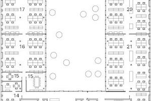 4. Obergeschoss, M 1:750