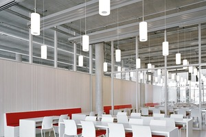 ... und das Mitarbeiterrestaurant mit etwa 190 Sitzplätzen an