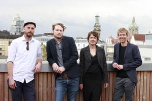 v. l.: Nils Nolting, Arne Hansen, Verena Brehm, Oliver Seidel