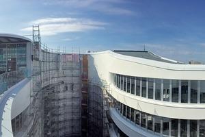 Hier entsteht der Innen- und Außenpool im 6. Obergeschoss
