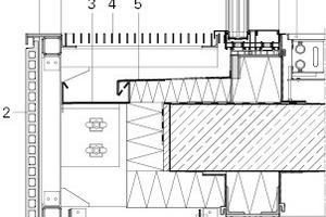 Detail Zimmerfassade Keramikband, M 1:20