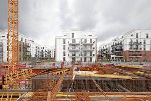 """Hätte Sinn gemacht: serielles Bauen im """"Parkend"""", Europaviertel  Frankfurt a. M. (ca. > 8000 €/m²)"""