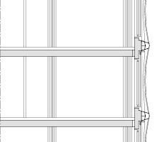 Fassadendetail Riegelbau, M 1:200