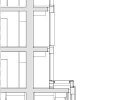 Fassadendetail Hochhaus, M 1:200