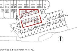 Grundriss 8. Etage Hotel, M 1:750