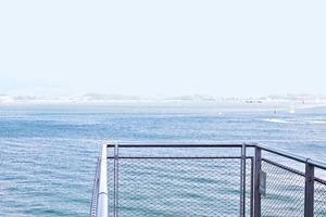Am Stegende: Blick auf die Bay