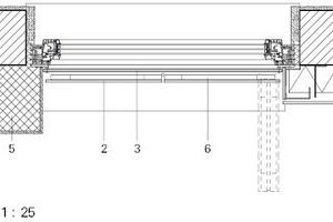 Detail mit WDVS- und VHF-Fassade, M 1:25