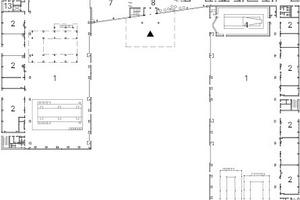 Erdgeschoss, M 1:1750