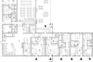 Erdgeschoss Haus 1, M 1:500