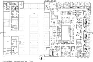 Grundriss Untergeschoss, M 1:750