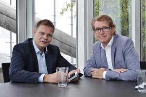 v.l.n.r.: Jens Kronenberg, Leiter Architektenservice und Bernhard Heitz, Technische Entwicklung/Design