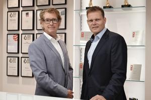 v.l.n.r.: Bernhard Heitz, Technische Entwicklung/Design und Jens Kronenberg, Leiter Architektenservice<br />