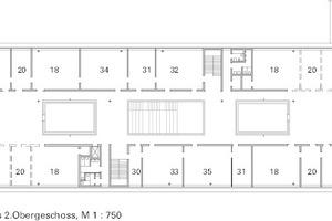 Grundriss 2. Obergeschoss, M 1:750