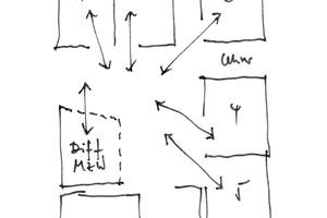 Fünf Klassen mit optimalem Bezug zur Mitte (Forum): Unterrichtsräume mit Platz sowohl für Gruppenarbeiten als auch individuelles Arbeiten, die sich zum Forum hin orientieren. Dort gibt es die Möglichkeit der Unterrichtsvor- und nachbereitung, der Recherche und Platz für Versammlungen etc.