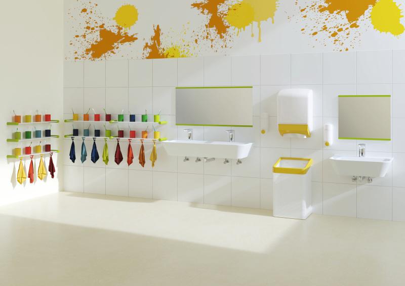 Farbenfrohe Sanitärausstattung für Kinder - Deutsche BauZeitschrift