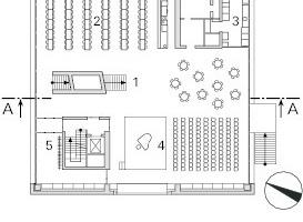 Grundriss, Erdgeschoss, M 1:750