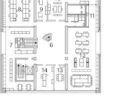 Grundriss, 1. Obergeschoss, M 1:750