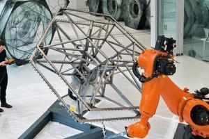 Robotische Fertigung, Elytra Filament Pavilion, Victoria & Albert Museum, London
